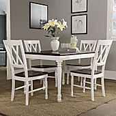 crosley furniture shelby 5piece dining set in white