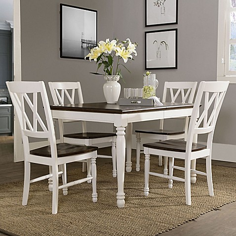 image of crosley furniture shelby 5 piece dining set in white dining sets   bed bath  u0026 beyond  rh   bedbathandbeyond com