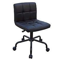 image of adjustable task chair in black - Office Desk Chairs