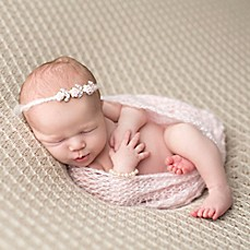 image of Tiny Blessings Boutique Mohair Wrap and Headband Set in Pink