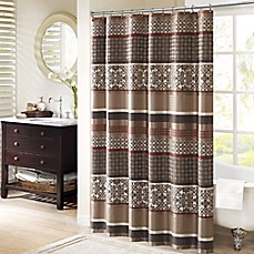 image of Madison Park Princeton 72-Inch Shower Curtain