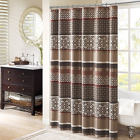 Curtains Ideas curtains madison wi : Madison Park Princeton 72-Inch Shower Curtain - Bed Bath & Beyond