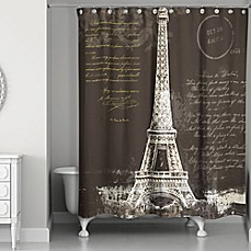 Image Of Designs Direct Painterly Paris Shower Curtain In Black White