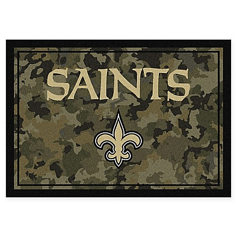 Buy Milliken Nfl New Orleans Saints 3 Foot 10 Inch X 5 Foot 4 Inch Camo Area Rug From Bed Bath