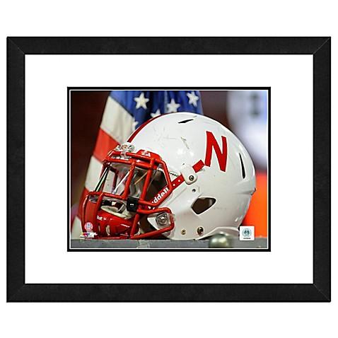 University Of Nebraska Team Helmet Framed Photo Bed Bath