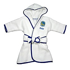image of Designs by Chad and Jake NBA Golden State Warriors Personalized Hooded Robe in White