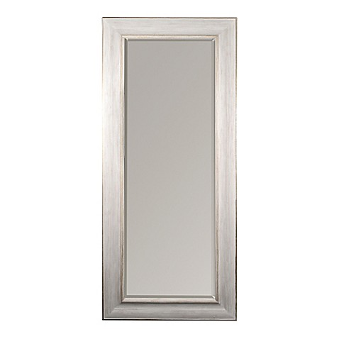 White gold 30x70 leaner mirror bed bath beyond for White long standing mirror