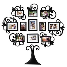image of WallVerbs™ 12-Piece Scroll Tree Photo Frame Set in Black