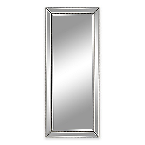 30 inch x 70 inch leaner mirror in pewter bed bath beyond for Miroir 70 x 70