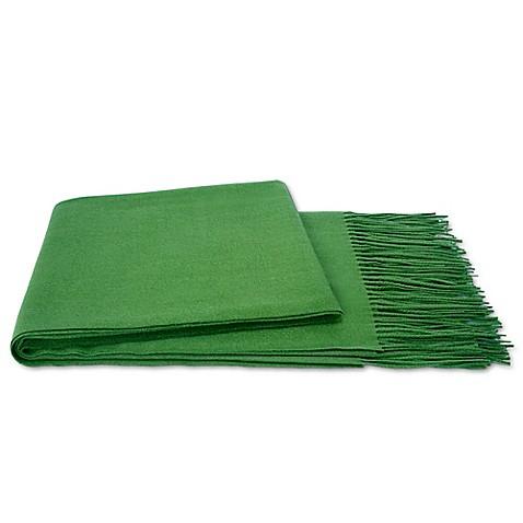 Flora cashmere achit throw blanket bed bath beyond - Emerald green throw blanket ...