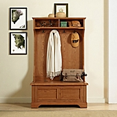 crosley furniture campbell hall tree in oak