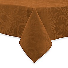 Superior Image Of Autumn Scroll Damask Tablecloth