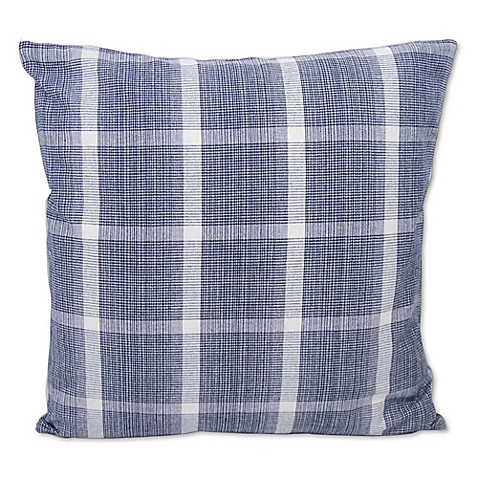 Throw Pillows Navy And White : Buy Miacomet Square Throw Pillow in Navy/White from Bed Bath & Beyond