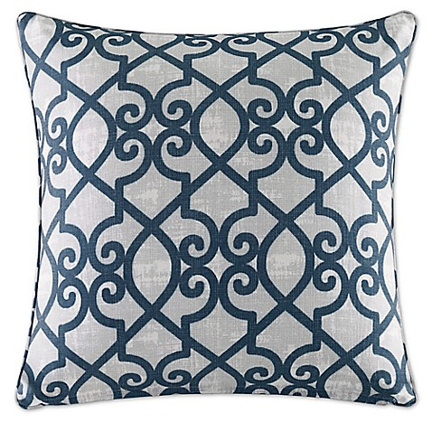 Madison Square 18-Inch Decorative Pillows : Buy Madison Park Daven 26-Inch Square Throw Pillow in Navy from Bed Bath & Beyond