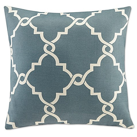 Buy Madison Park Saratoga 20-Inch Square Decorative Pillow in Blue from Bed Bath & Beyond