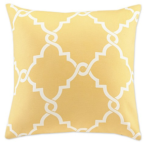 Madison Square 18-Inch Decorative Pillows : Buy Madison Park Saratoga 20-Inch Square Decorative Pillow in Yellow from Bed Bath & Beyond