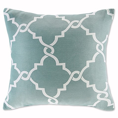 Madison Square 18-Inch Decorative Pillows : Buy Madison Park Saratoga 20-Inch Square Decorative Pillow in Seafoam from Bed Bath & Beyond