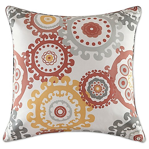 Madison Square 18-Inch Decorative Pillows : Buy Madison Park Laguna 26-Inch Square Throw Pillow in Coral from Bed Bath & Beyond