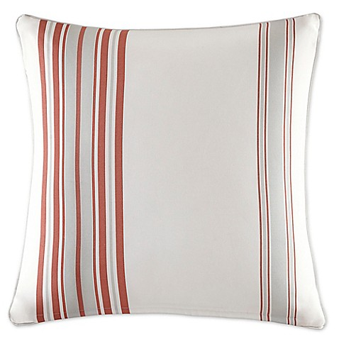Buy Madison Park Newport 20-Inch Square Throw Pillow in Coral from Bed Bath & Beyond