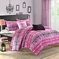 image of Chic Home Waffle Comforter Set in Pink