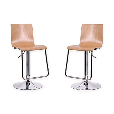 Baxton Studio Lynch Bar Stools Set Of 2 Bed Bath Amp Beyond