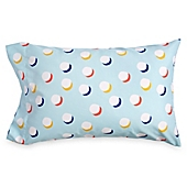image of Scribble Dots Standard Pillowcase in Aqua