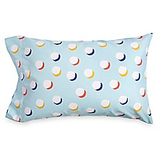 image of Scribble Dots Standard Pillow Sham in Aqua