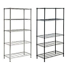 image of Safavieh Alpha 5-Tier Chrome Wire Rack