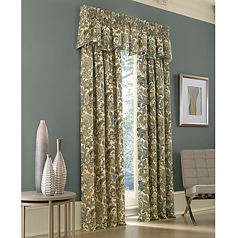 Buy J Queen New York Valdosta 95 Inch Window Curtain Panel In French Blue From Bed Bath Beyond