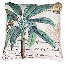 image of Bryson Palm Tree 20-Inch Square Throw Pillow