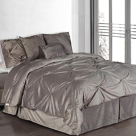 Pintuck Plush Comforter Set Bed Bath Amp Beyond