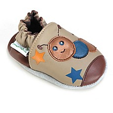 image of Momo Baby Caterpillar Leather Soft Sole Shoe in Taupe
