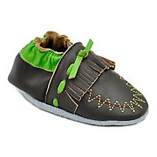 image of MomoBaby Moccasin Leather Soft Sole Shoe in Brown