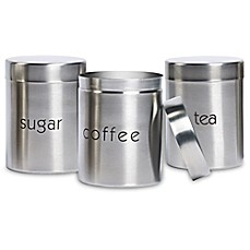 Image Of Basic Essentials 3 Piece Stainless Steel Canister Set