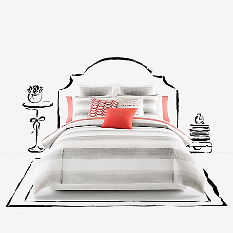 Buy Kate Spade New York Rugby Stripe Duvet Set Full Queen