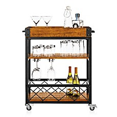 image of Verona Home Seymour Kitchen Rolling Serving Cart