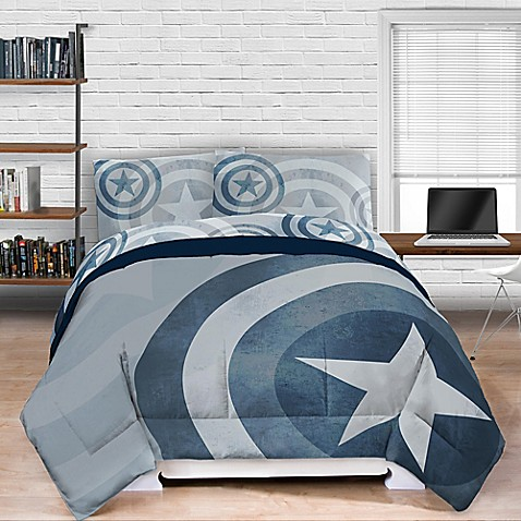Marvel 174 Captain America Lifestyle Shield Comforter Bed