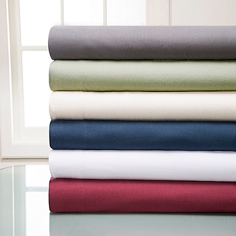 Winter Nights Cotton Flannel Solid Sheet Set Bed Bath
