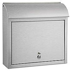 image of QualArc® Winfield Series Compton Locking Wall Mount Mailbox in Stainless Steel