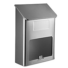 image of QualArc® Winfield Series Metros Wall Mount Mailbox in Stainless Steel