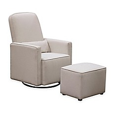 image of DaVinci Olive Upholstered Swivel Glider with Ottoman in Cream  sc 1 st  buybuy BABY : reclining glider and ottoman - islam-shia.org