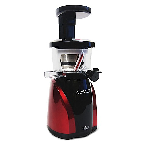 Tribest Slowstar vertical Cold Press Juicer with Mincing in Black/Red - Bed Bath & Beyond