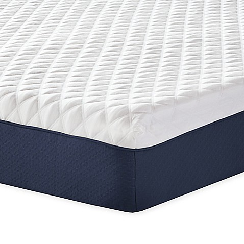 Therapedic 174 10 Inch Firm Memory Foam Mattress In White Blue Bed Bath Amp Beyond