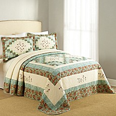 image of Bailey Bedspread in Green