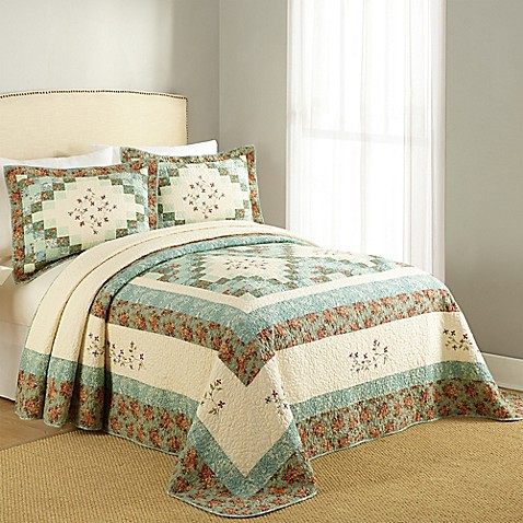Bailey Bedspread In Green Bed Bath Amp Beyond