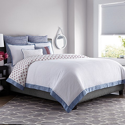 buy real simple french riviera king duvet cover in white from bed bath beyond. Black Bedroom Furniture Sets. Home Design Ideas