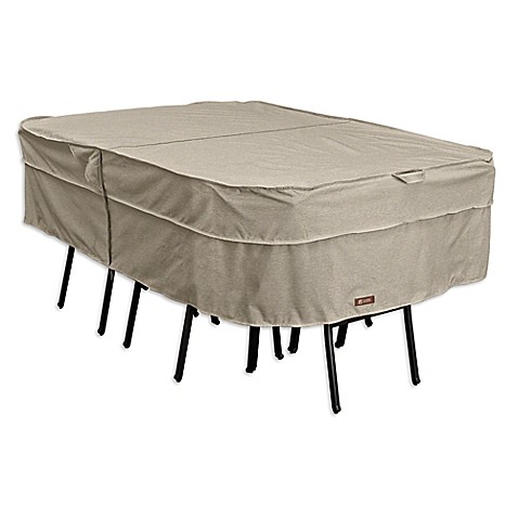 Buy classic accessories montlake large rectangular oval for Oval patio set cover