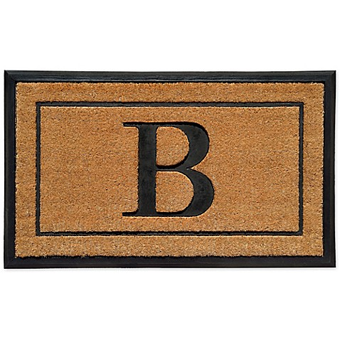 18 Inch By 30 Inch Monogram Letter Quot B Quot Doormat In Natural
