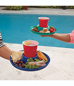 Plato grande para alimentos y bebidas