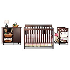 image of Sorelle Petite Paradise 5-Piece Complete Nursery Set in Cherry